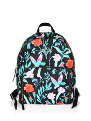 Kate Spade Watson Lane Hartley Floral Backpack Black Multi