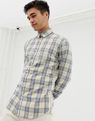 Selected Homme Slim Fit Check Shirt Yellow