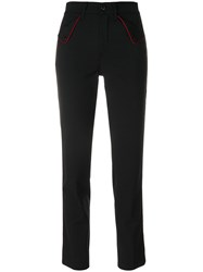 The Seafarer High Waisted Cropped Trousers Polyester Spandex Elastane Virgin Wool Black