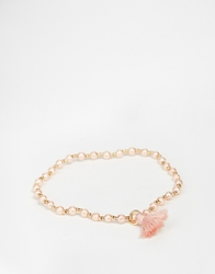 Asos Limited Edition Tiny Faux Pearl Stretch Bracelet Pink