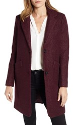 Marc New York Pressed Boucle Coat Burgundy