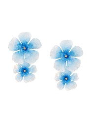 Jennifer Behr Big Flower Earrings Blue