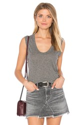 Velvet By Graham And Spencer Estina Scoop Neck Tank Gray