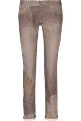 Isabel Marant Viktor Printed Low Rise Skinny Jeans Anthracite