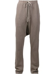 Rick Owens Drkshdw Drawstring Drop Crotch Sweatpants Brown