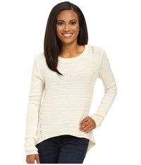 Jag Jeans Petite Boat Neck Drop Tail Sweater Cotton Women's Sweatshirt Bone