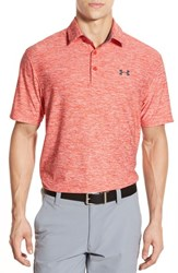 Men's Under Armour 'Playoff' Short Sleeve Polo Fuego Petrol Blue