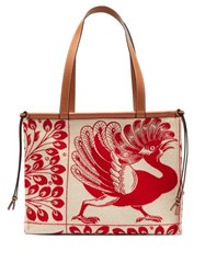 Loewe Cushion Dodo Jacquard Tote Bag Red Multi
