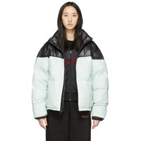 Adidas By Alexander Wang Originals Black And Green Down Disjoin Puffer Jacket