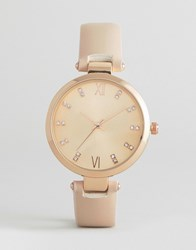 New Look Sparkle Dial Watch Rose Gold