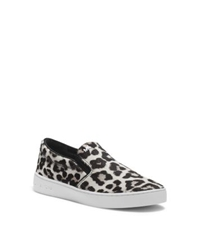 Michael Kors Keaton Cheetah Hair Calf Slip On Sneaker Black White