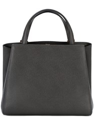 Valextra 'Triennale' Tote Bag Women Leather One Size Grey