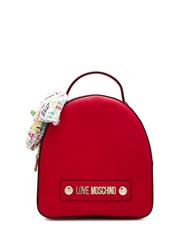 Love Moschino Round Backpack Red
