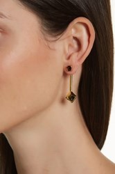 Trina Turk Linear Drop Earrings Metallic