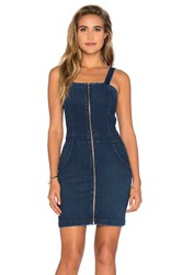 3X1 Zip Front Mini Dress Blue