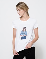 Alexa Chung For Ag Selfie T True White