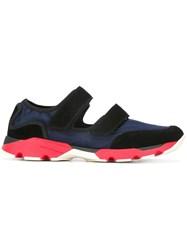 Marni Double Strap Low Top Sneakers Blue