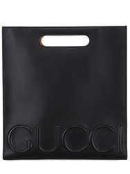 Gucci Embossed Gucci Leather Tote Bag