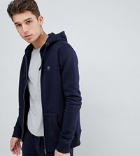 French Connection Tall Zip Hoodie Navy