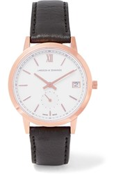 Larsson And Jennings Saxon Leather Rose Gold Plated Watch