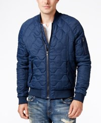 William Rast Men's Bedford Quilted Jacket Dress Blues