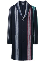 Carven Shawl Lapel Mid Coat Blue