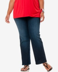 Motherhood Maternity Plus Size Bootcut Dark Wash Jeans