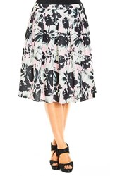 Plus Size Women's City Chic 'Art Direction' Floral A Line Skirt