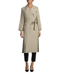 French Connection Solid Draped Coat Beige