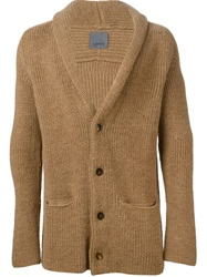 Laneus Shawl Neck Cardigan Brown