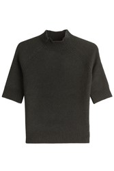 Theory Cashmere Top With Turtleneck Green