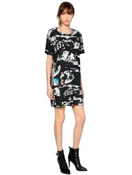 Versus Printed Cotton Jersey T Shirt Dress