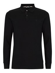 Aquascutum London Hilton Long Sleeve Polo Shirt Black