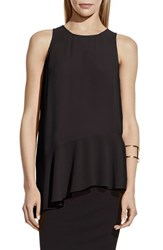 Women's Vince Camuto Sleeveless Asymmetrical Ruffle Hem Blouse Rich Black