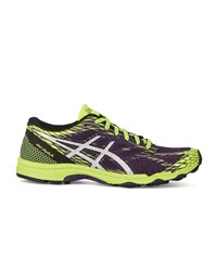 Asics Purple And Yellow Gel Fudji Lyte Running Shoes