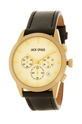Jack Spade Men's Bailey 3 Eye Chronograph Watch Black