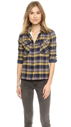 Roseanna Leone Sherpa Lined Button Down Jaune