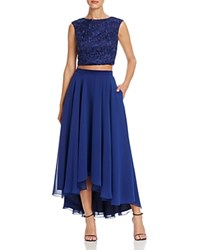Aidan Mattox Two Piece High Low Dress 100 Bloomingdale's Exclusive Navy