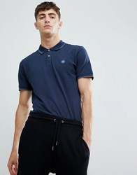 Pretty Green Tipped Polo In Navy