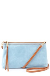 Hobo 'Darcy' Leather Crossbody Bag Blue Blue Mist