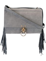 Andrea Incontri 'Luck Fringe' Shoulder Bag Grey
