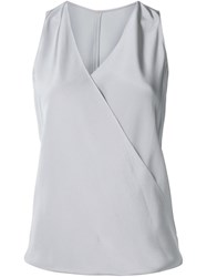 Peter Cohen Draped Wrap Top Grey
