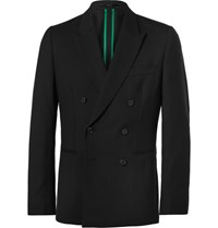Paul Smith Black Soho Slim Fit Double Breasted Wool Suit Jacket Black