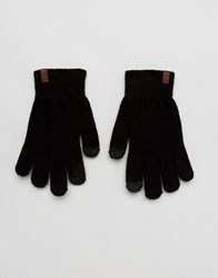 Timberland Magic Knit Etip Gloves In Black