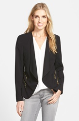 Vince Camuto Double Zip Pocket Blazer Rich Black