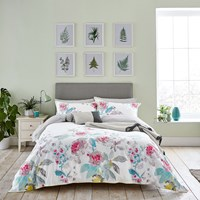 Joules White Beau Bloom Duvet Cover Pink