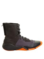 Y 3 Future Tri Colour High Top Trainers Grey Multi