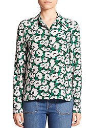 Stella Mccartney Wilson Small Poppy Print Shirt Black
