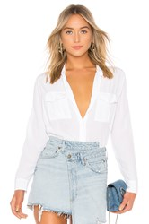Rails Rhett Silk Button Down Blouse White