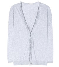 Brunello Cucinelli Cotton Cardigan Grey